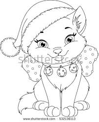 Small Picture Christmas Coloring Pages With Cats Coloring Pages
