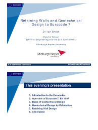 Small Picture Retaining Walls and Geotechnical Design to Eurocode 7