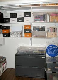 office closet organization. closets can be used in many ways including office space adding simple boxes and organizers help make the most of your closet organization