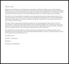 Software Engineer Recommendation Letter Example Letter