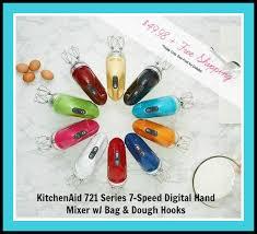 kitchenaid 9 speed digital hand mixer. qvc: kitchenaid hand mixer w/ bag \u0026 dough hooks under $50 + free shipping today kitchenaid 9 speed digital g
