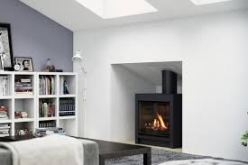 escea fs730 freestanding gas fireplace volcanic black with logs