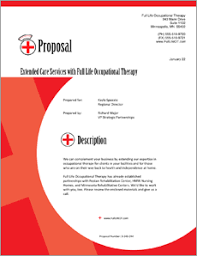 Occupational Therapy Services Sample Proposal 5 Steps