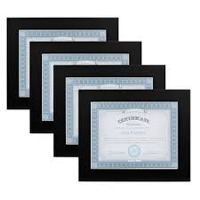 museum 8 5 in x 11 in black picture frame set of 4