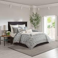 Echo Design Coverlet Echo Design Paisley Shawl 3 Piece Cotton Comforter Set
