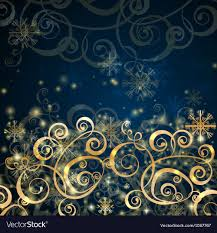 Blue And Gold Design Elegant Christmas Dark Blue With Gold Background