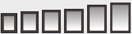 custom framed mirrors bathroom
