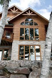 Beautifully imposing - love the stone and wood combination