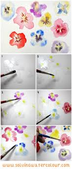 Easy Floral Designs To Paint How To Paint Loose Watercolour Flowers Floral Designs