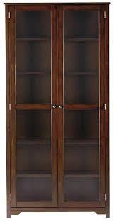 glass door bookshelf wall bookshelves with ss doors black bookcase billy breathtaking costco