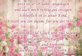Lll Gedichte Zum 18 Geburtstag Kurze Und Lustige Verse Zur