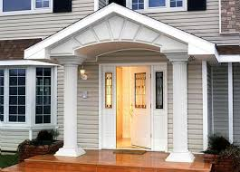 white front door30 Front Door Ideas and Paint Colors for Exterior Wood Door