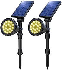 Amazon Yard Lights Osord Solar Lights Outdoor Upgraded Waterproof 18 Led Solar Landscape Lights Solar Spotlight Yard Night Light Auto On Off Landscape Lighting For