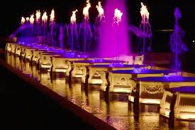 illuminated fountain performance at longwood gardens