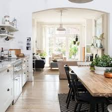 scandi style open plan kitchen and living room ideal home