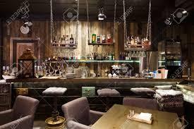 Interior Of Cozy Restaurant Contemporary Design In Loft Style