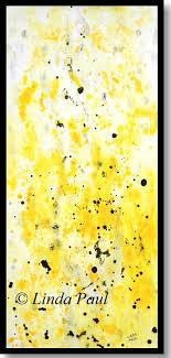 abstract yellow wall art