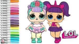 Lol Surprise Dolls Coloring Book Page Color Swap Sugar Queen And