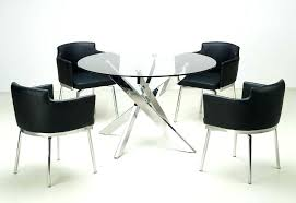 modern breakfast table and chairs dining set with round glass dining table top and chairs mid