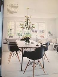 wow what a lovely dining e white walls with stark black daw s create a striking contrast