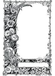 printable clip art picture frames templates free frame fl