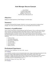 95 Example Hospitality Resume Hotel Security Resumes Examples