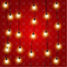 Hanging Vertical Christmas Lights Garlands Vector Illustration Of