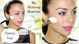 my makeup routine chemical free vegan annie jaffrey you