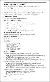 Resume Sample For Job Apply Bank Officer Sample Sample Resume