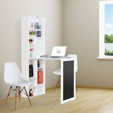 Fold down wall desk Mid Sandsmere Collapsible Fold Down Writing Desk With Chalkboard And Bottom Shelf Wayfair Wall Mounted Drop Down Desk Wayfair