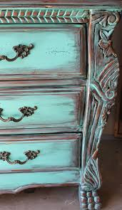 distressed turquoise furniture. Aqua Turquoise Distressed French Armoire Dresser With Aged CopperEbony Patina Blue Furniture Intended