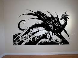 mystical dragon wall art sticker make believe animal decal european