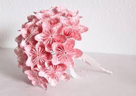 Paper Origami Flower Bouquet Wedding Origami Paper Flower Bouquet Pink And White Origami