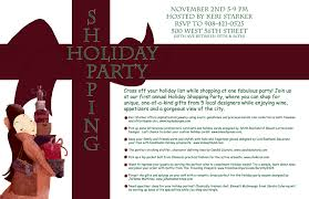 Holiday Shopping Party Invite