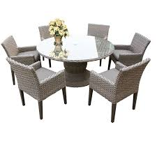 outdoor patio dining table w 6 chairs