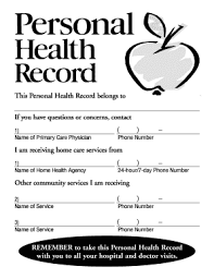 Personal Health Record Forms Personal Health Record Forms Fill Online Printable