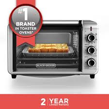 BLACK+DECKER 6-Slice Convection Countertop Toaster Oven, Stainless ...