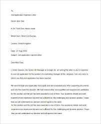 Brilliant Ideas of Job Rejection Letter Pdf About Description