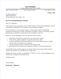 Cover Letter Sample For Supervisor Position Purchasing Manager Cover Letter Sample