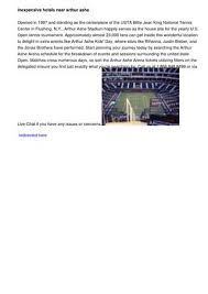 Usta Billie Jean King National Tennis Center Seating Chart Arthur Ashe Stadium Seating Chart By Chad63concerts Issuu