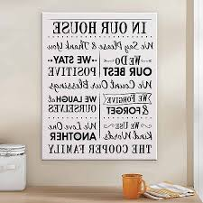 family rules canvas wall art with regard to 2017 family rules canvas wall art inspirational personalized