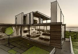 modern architectural sketches. Modern House Design Sketch Architectural Sketches H