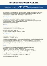 Sample Nurse Resume Pediatric Nurse Resume Sample 89