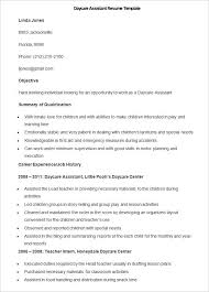 Sample Daycare Assistant Resume Template How To Make A Good