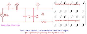 110vac 60hz ac main operated leds lamp