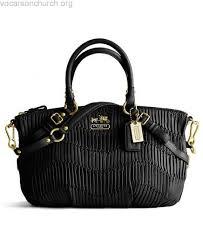 Super Popular Coach Madison Sophia Black Gathered Leather Satchel Handbag  Tote Bag 15947
