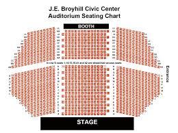 Je Broyhill Civic Center Seating Chart J E Broyhill Civic Center
