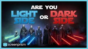 Dark Side Or Light Side Star Wars Quiz Star Wars Quiz Are You Light Side Or Dark Side