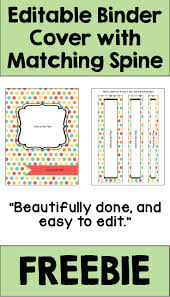 Free Editable Binder Covers And Spines Editable Binder Cover And Spines In Pastel Colors Free
