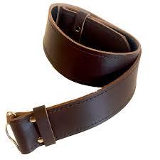 brown plain leather belt medium 32 38